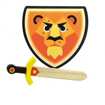 Bouclier et épée en bois Lion - Vilac
