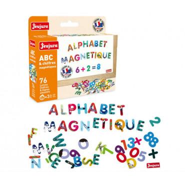 Lettres et chiffres magnétiques - Jeujura