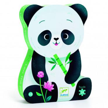 Puzzle silhouette 24 pcs, Le panda - Djeco