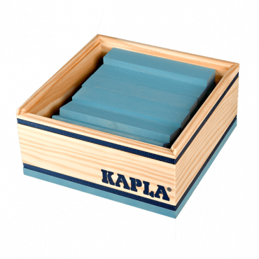 Kapla coffret de 40 planchettes bleu clair