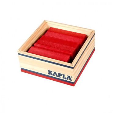 Kapla coffret de 40 planchettes rouges