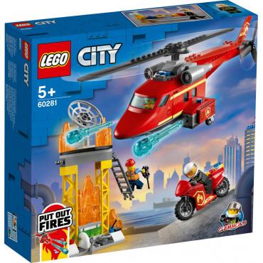 L HELICOPTERE DE SECOURS DES POMPIERS - Lego