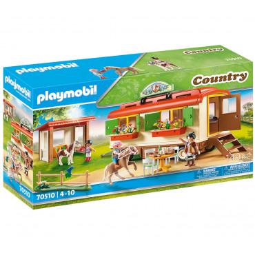 Box de poneys et roulotte - Playmobil
