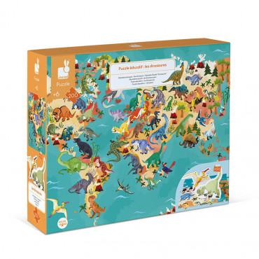 Puzzle 200 pièces les dinosaures - Janod