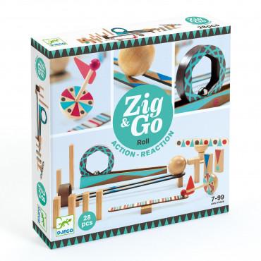 Toboggan à billes 28 pièces, Zig & Go - Djeco