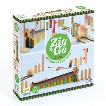 Toboggan à billes 27 pièces, Zig & Go - Djeco