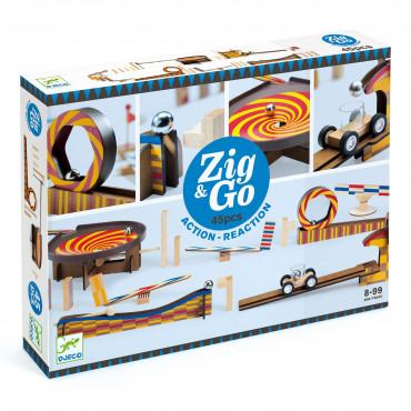 Toboggan à billes Wroom 45 pièces, Zig & Go - Djeco