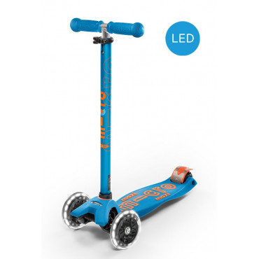 Trottinette Maxi Deluxe Carribean Blue LED - micro