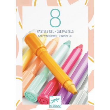 8 Pastels gel sweet - Djeco