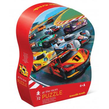 SHAPED PUZZLE 72 PCS COURSE DE VOITURES