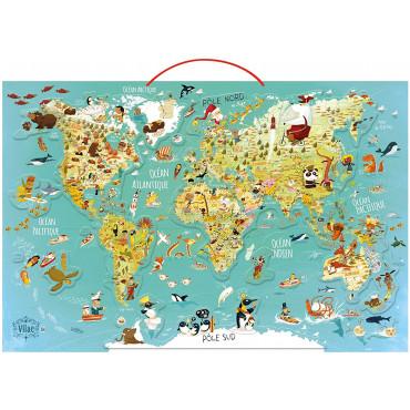 Carte du monde fantastique magnétique - Vilac