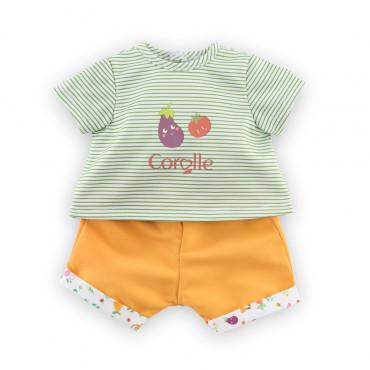 Tee-shirt et bermuda, Fête du Potager pour poupons 30cm Ense- Corolle