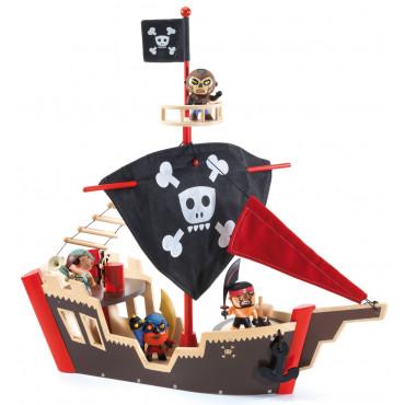 Bateau de pirate en bois Ze Pirat Boat, Arty Toys - Djeco
