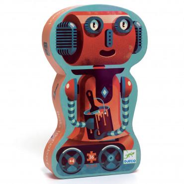 PUZZLE SILHOUETTE BOB LE ROBOT 36 PCS