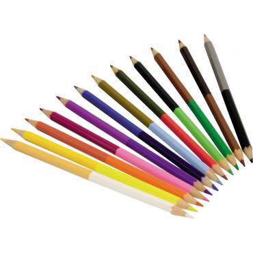 12 CRAYONS COULEURS DOUBLE POINTE