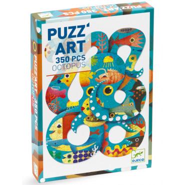 Puzzle Pieuvre de 350 pièces, Puzz'Art - Djeco