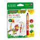 6 maxi crayons de couleur - Alpino Baby