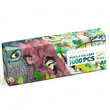 PUZZLE GALLERY OWLS AND BIRDS 1000 PCS