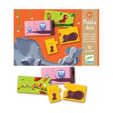 Puzzle Duo Maman Bébé - Djeco
