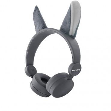 Casque audio Loup gris - Kidywolf